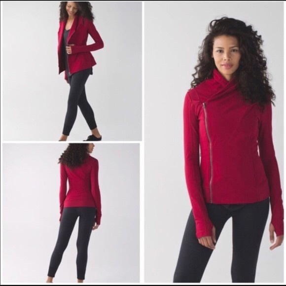 lululemon athletica Jackets & Blazers - Lululemon Bhakti Jacket cranberry size 6